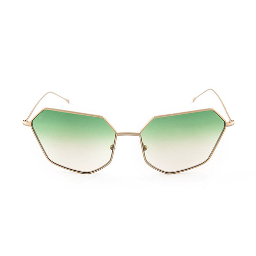 Cher C04 Gold Matte - L.Green/L.Brown Degrade Zero Lens