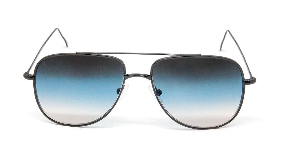 Danny C03 Shiny black - Blue/l.blue/brown degrade zero lens