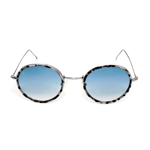 Bron C03 Shiny Dark Silver Granite - Blue degrade Lens
