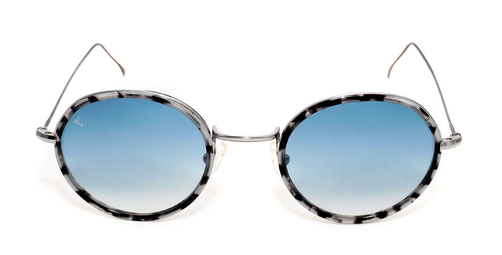 Bron C03 Shiny Dark Silver Granite - Blue degrade Lens