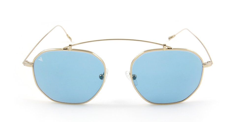 Dorian C05 Shiny Gold/Azure Pastel Lens