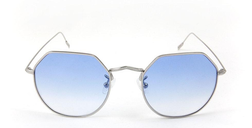 Greg C02 Shiny Silver - Azure degrade lens