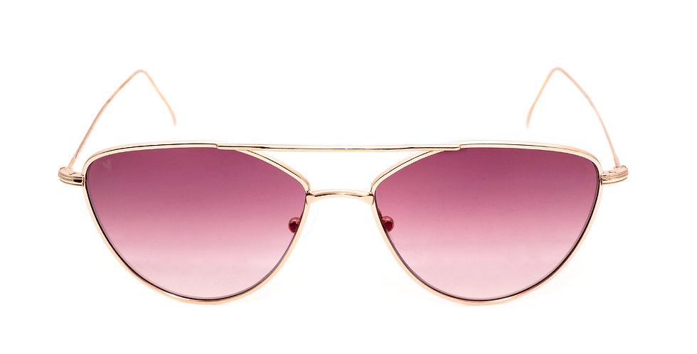 Sally C04 Shiny Rose Gold - Purple degrade zero lens