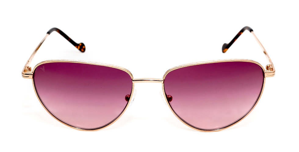 Jorie C05 Shiny Rose Gold and Old Avana - Purple Degrade Lens