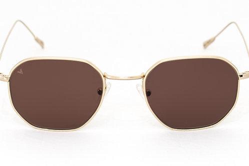 Karl C03 Shiny gold - Brown zero lens
