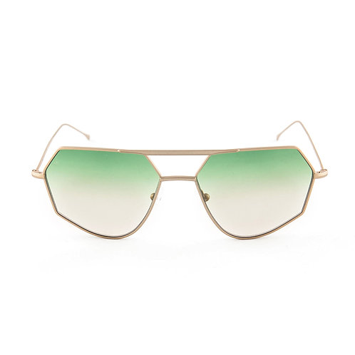 Aki C04 Matte gold - L.green/L.brown degrade zero lens