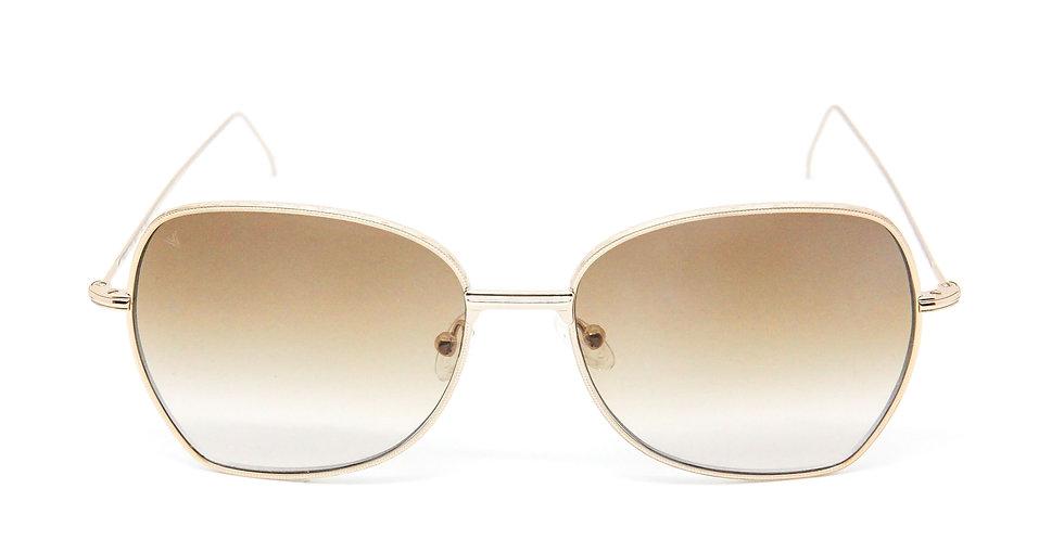 Amelie C01 Shiny gold - Brown degrade zero lens