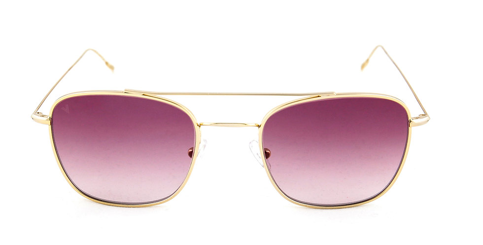 Capri C03 Shiny yellow gold - Purple degrade lens