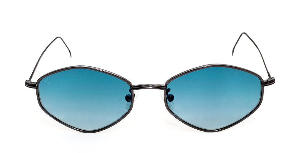 Gigi C01  Shiny Black -Blue Degrade zero lens