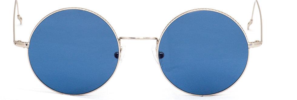 Brad C02 Shiny silver - Cobalt zero lens