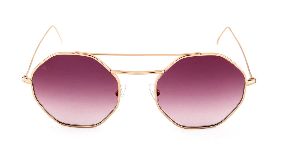 Nice C05 Shiny rose gold - Purple degrade lens