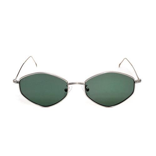 Gigi C02 Shiny Silver - Green G15 zero lens