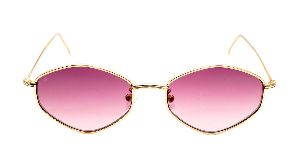 Gigi C04 Shiny Yellow Gold - Purple degrade zero lens