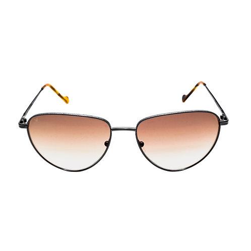 Jorie C04 Shiny Black and Avana - Brown Degrade Lens