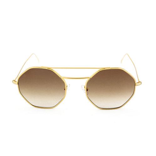 Nice C01 Shiny yellow gold - Brown degrade lens