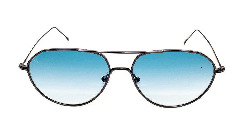 Edgar C01 Shiny Black - Blue Degrade Zero Lens