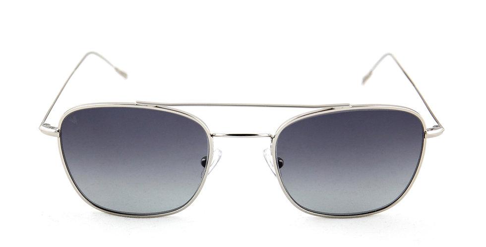 Capri C02 Shiny silver - Gray degrade lens