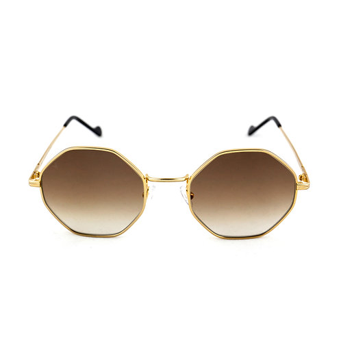 Cindy C01 Shiny yellow gold - Brown degrade lens