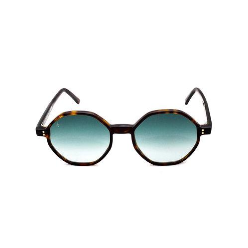 Porto Cervo C02 Dark Avana - Green Degrade lenses