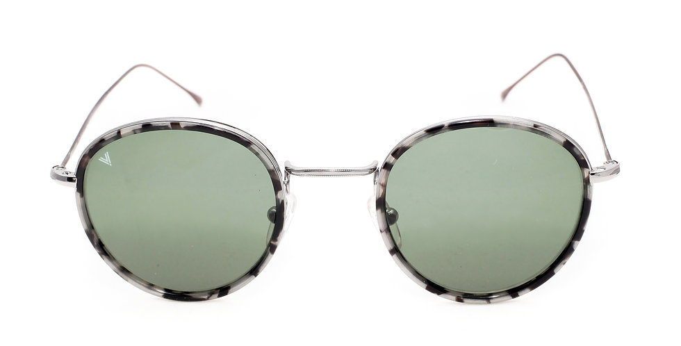 Miller C03 Shiny Dark Silver Granite - Green G15 Lens
