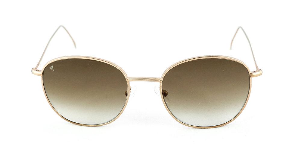 Maverick C04 Satin shiny rose gold - Brown degrade lens