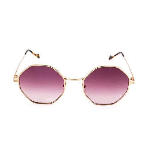 Cindy C05 Shiny rose gold - Purple degrade lens