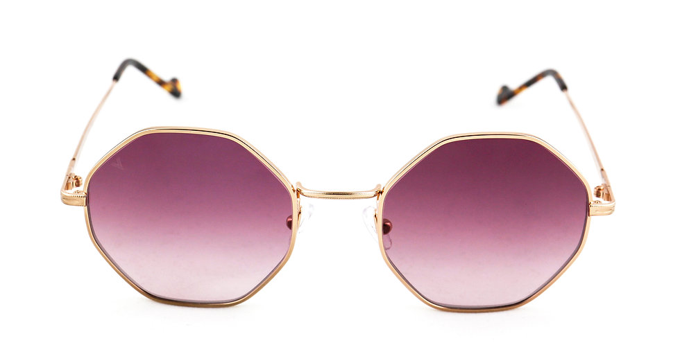 Cindy C05 Shiny rose gold - Purple degrade lens
