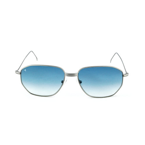 Jimmy C02 Satin shiny silver - Blue degrade lens