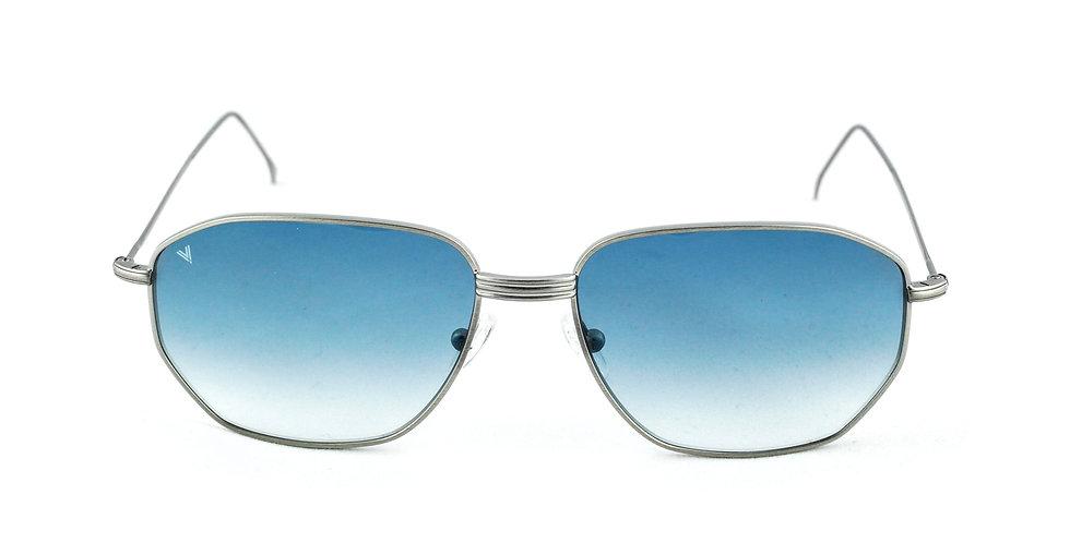 Jimmy C02 Satin shiny silver - Blue degrade lens