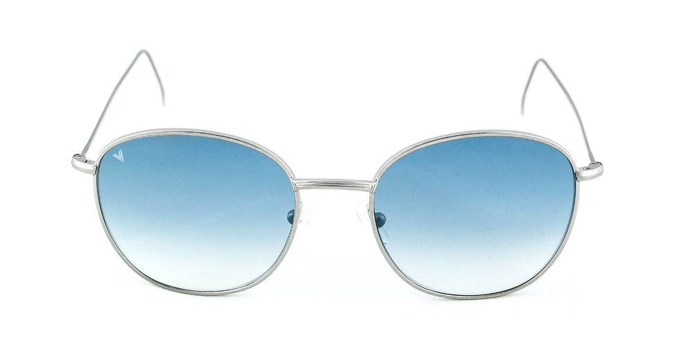Maverick C02 Satin shiny silver - Blue degrade lens
