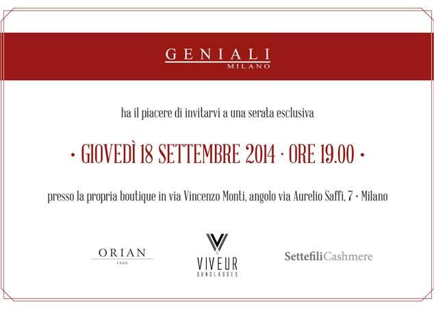 GENIALI FASHION WEEK-Milan