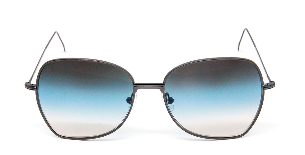 Amelie C03 Shiny black - Blue/l.blue/l.brown degrade zero lens