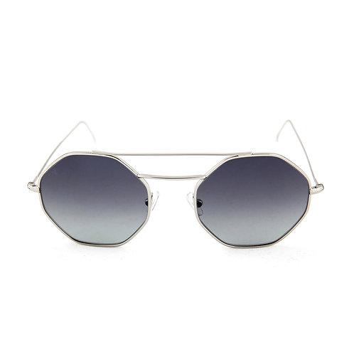 Nice C02 Shiny silver - Gray degrade lens