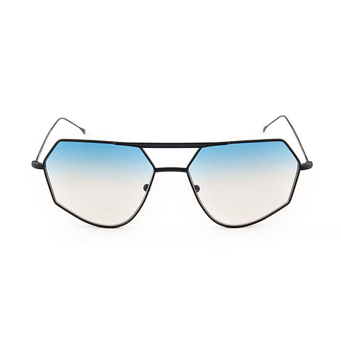 Aki C01 Black -  L.blue/L.brown degrade zero lens