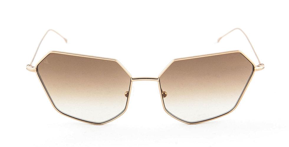 Cher C05 Shiny Red Gold - Brown Degrade Zero Lens