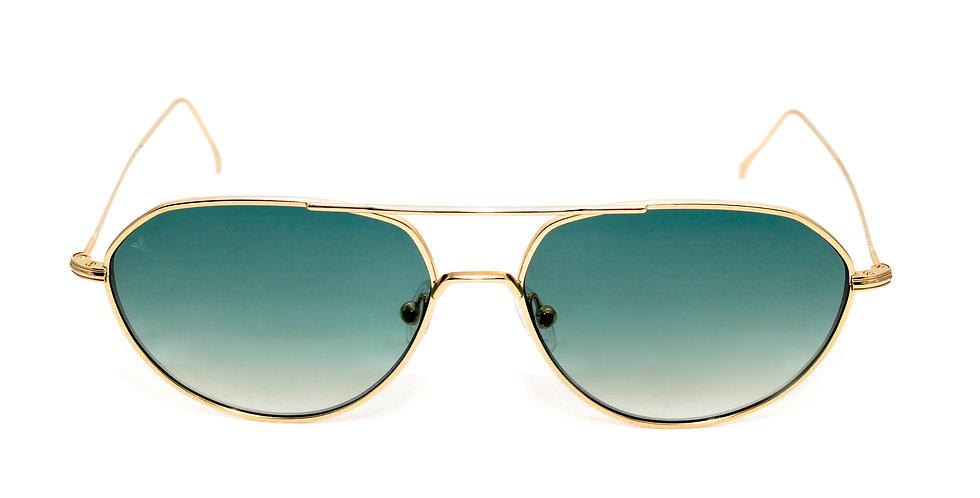 Edgar C03 Shiny Gold - Green degrade zero lens