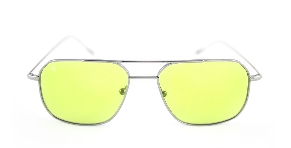 Cali C08 Shiny silver - Green pastel lens