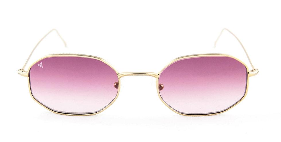 Tony C04 Shiny gold - Purple degrade lens