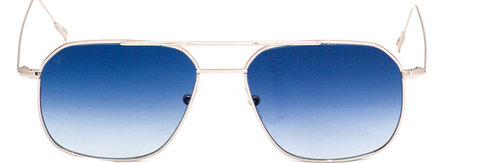 Cali C02 Shiny Silver - Blue degrade zero lens