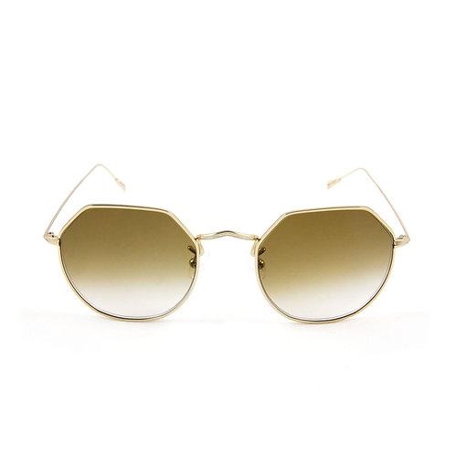 Greg C03 Shiny gold - Brown degrade lens