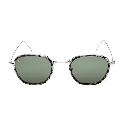 Jaime C03 Shiny Dark Silver Granite - Green G15 Lens