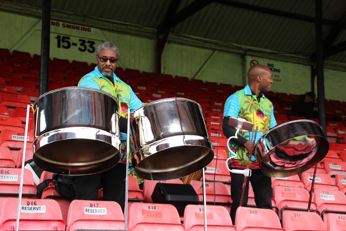 8 Steel band at first ever GTFC Ladies M