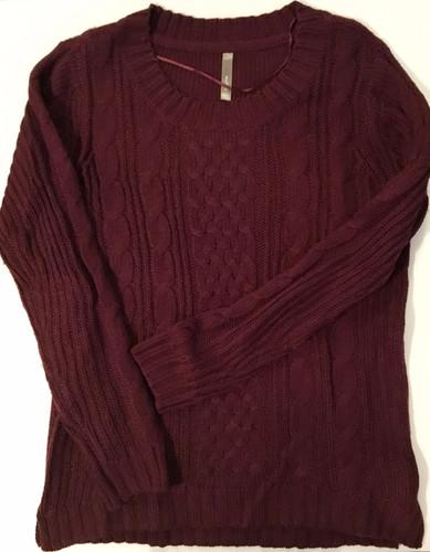 2fdb3c44266 Thyme Maternity merlot knit longer sweater S