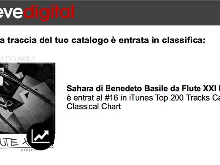 """Sahara"" al 16° posto della Canada Classical Chart di I-Tunes"