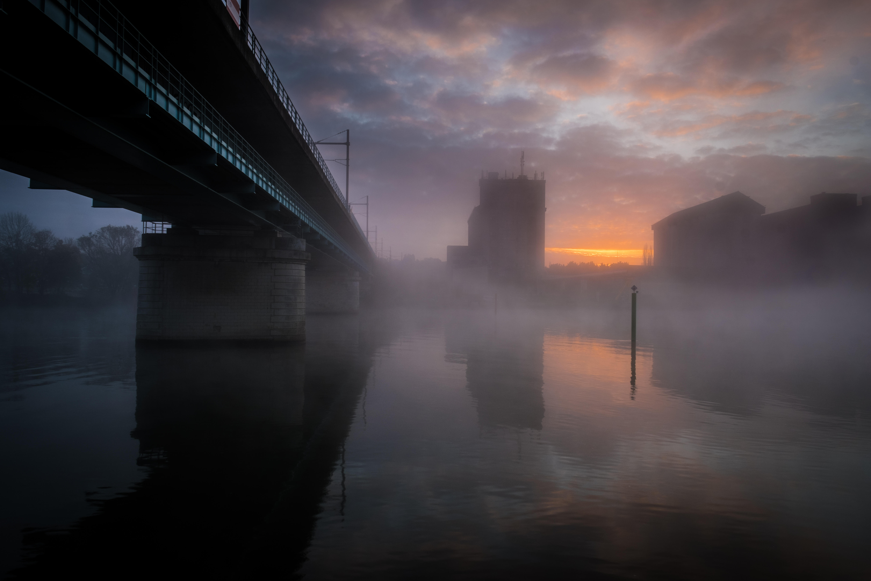 Lever de soleil sur la Seine
