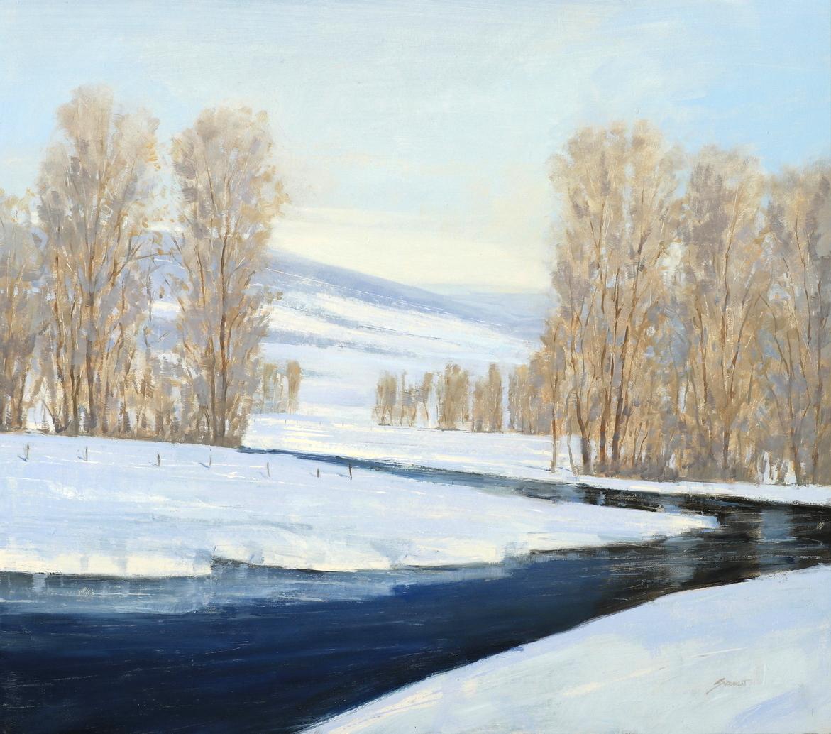 Winter Stream 23x26