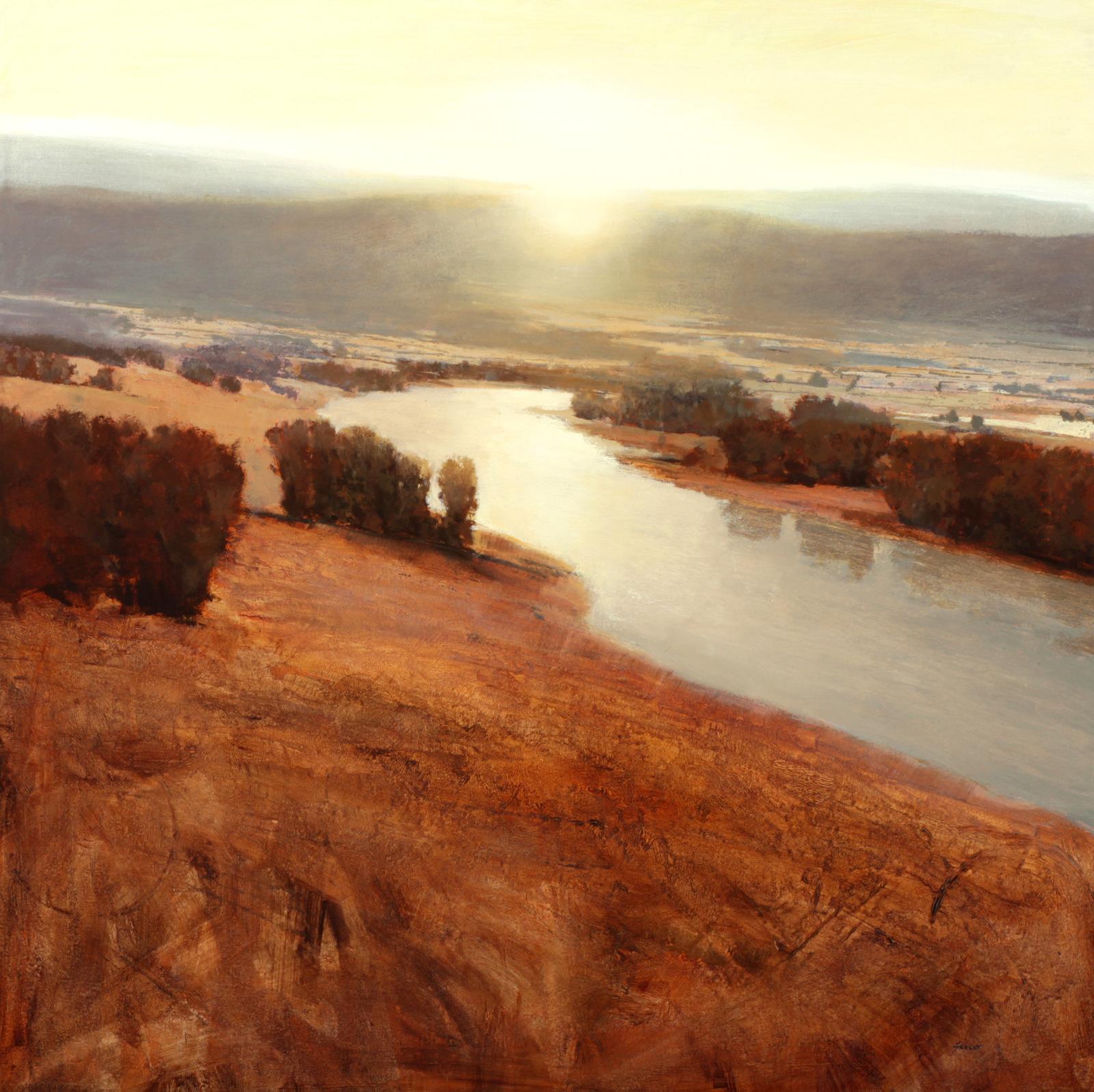 Skorut-Sunrise over the river 38x38
