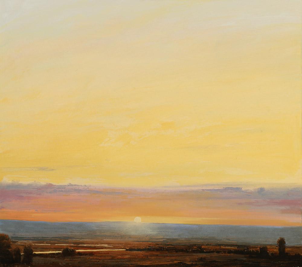 quiet sunset 23x26