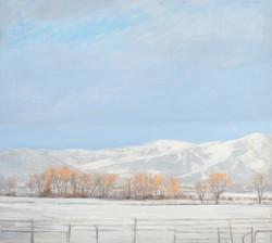 Winter Sky, 35x39, oil on canvas