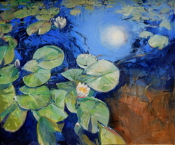 18-water lilies 30x36